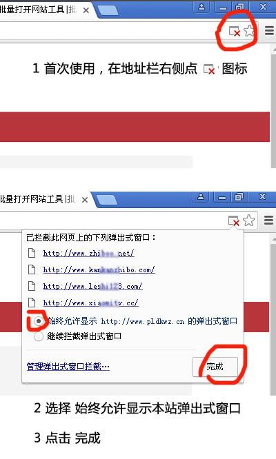 谷歌浏览器首次使用批量打开网站工具